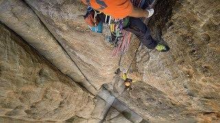 Climbing in Wadi Rum, 2017.