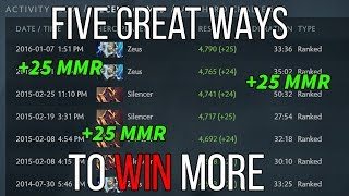 How to win more Dota 2 games and increase your MMR (5 great great rules - Dota 2 pro guide)