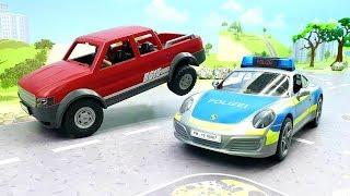 Мультики для детей - мультики с игрушками Плеймобил - полицейская машинка и пикап - Сон!