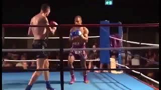 Мощный нокаут с разворота прямо в голову (бокс, кикбоксинг, спорт, драка, жесть, нокаут 2018)