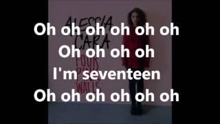 Seventeen Alessia Cara - lyrics