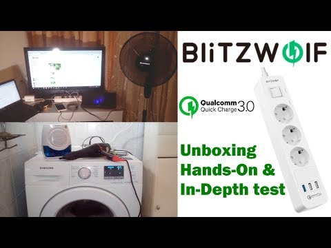 BlitzWolf BW-PS1 Power Strip QC 3.0 Charger Unboxing/In-Depth Test