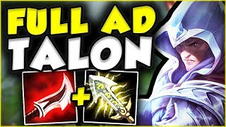 FULL AD TALON IS LETHAL! NOBODY IS SAFE FROM ME! FULL AD LETHALITY TOP GAMEPLAY! - League of Legends