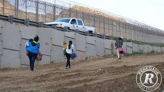 Border wall crossing thru construction