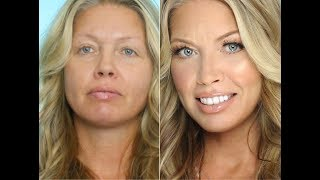 Transformation Makeup On Middle Aged/ Mature Skin | Julia Dantas + Crystal Andrus