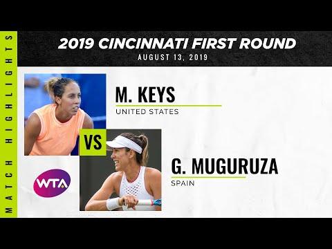 Madison Keys vs. Garbiñe Muguruza | 2019 Western & Southern Open Second Round | WTA Highlights