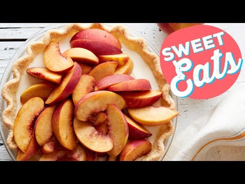 4-Ingredient Peaches and Cream Pie | Food Network