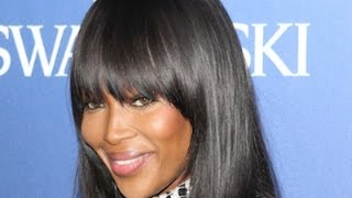 Naomi Campbell Fringe Hairstyle