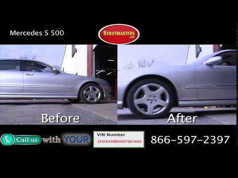 2003 Mercedes S 500 Before and After Conversion Kit