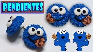 🍪 Tutorial: Pendientes/Aretes Del Monstruo Come Galletas 🍪
