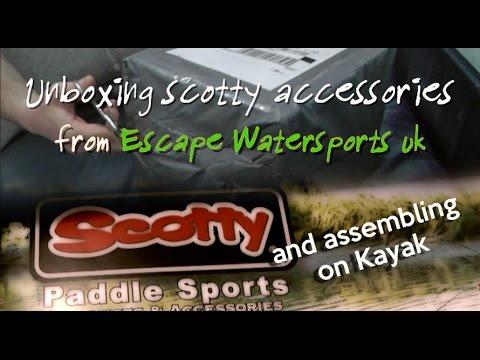 Unboxing accessori scotty mount per kayak fishing part1