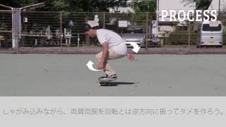 Half Cab(ハーフキャブ) | プロが教えるスケートボードHOW TO