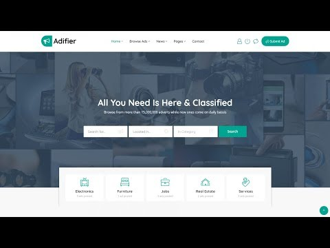 , title : 'How to Make a Classified Advertisement Listing Website with WordPress 2018 - Adifier Theme