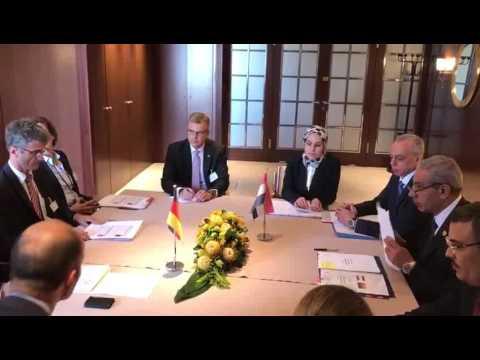 لقاء الوزير/ طارق قابيل مع نظيره الالمانى