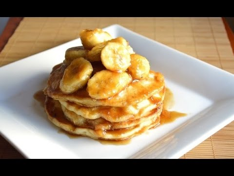 Bananas Foster Buttermilk Pancakes |Cooking With Carolyn