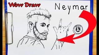 How To Draw Neymar - How To Turn Word NEYMAR Into A CARTOON - Drawing NEYMAR - Junior Neymar