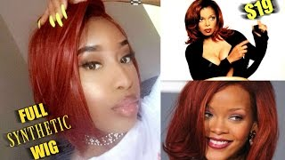 SLAYING A $19 AUBURN SYNTHETIC WIG  ( NO LACE or ROOT)  FT. It's A Wig - BIG SHOT *2017*