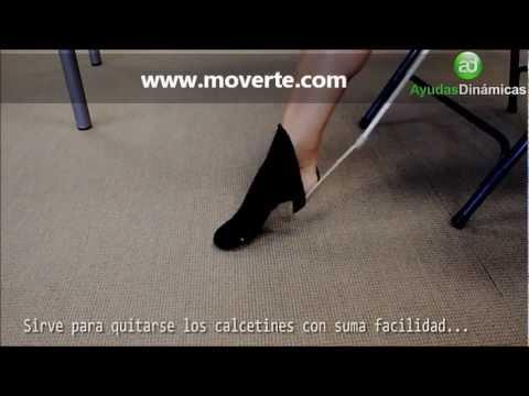 Pone medias y calcetines de compresión con calzador largo BREBETTI Ayudas Dinámicas H4666