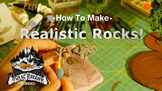**Realistic Rocks** Make your MDF tree bases look realistic and AMAZING! (PART 2)