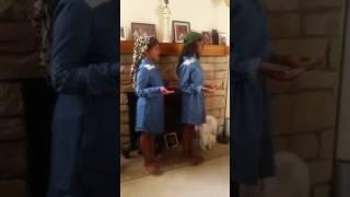 Nalani & Amani sing the Lord's prayer in Hebrew