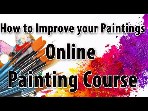 How to Improve your painting skills online painting course ...