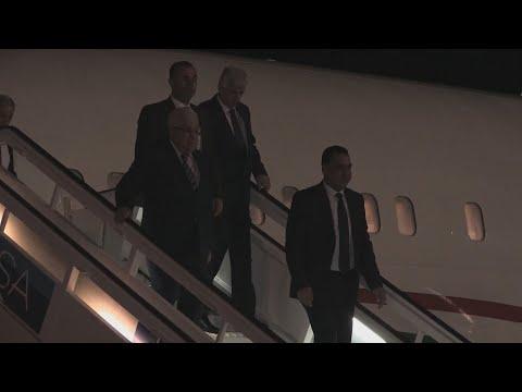 El líder palestino Mahmud Abás llegó a Cuba para reunirse con Díaz-Canel