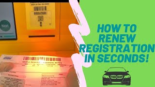 Avoid the long queue |RENEW DMV Registration in Kiosk