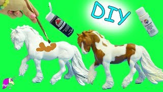 DIY Do It Yourself Custom Breyer Traditional Model Horse Acrylic Painting Craft Video