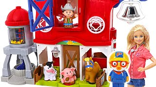 Lots of cool animals! Let's go to the animal farm with Pororo and friends! | PinkyPopTOY