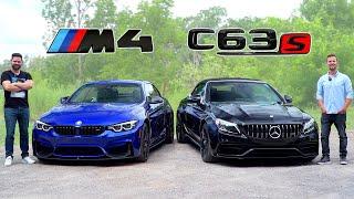 2020 BMW M4 Vs Mercedes AMG C63 S  Battle Of Brutes