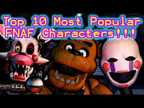 Top 10 Most Popular FNAF Characters (According to the Fans!)