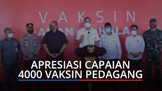 Mendag M Lutfi Apresiasi Capaian 4.000 Vaksin Pedagang Pasar Raya Kota Padang