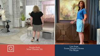 Susan Graver Printed Liquid Knit Pull-On Skort on QVC