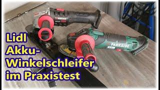 Parkside® Lidl Akku Winkelschleifer im Test