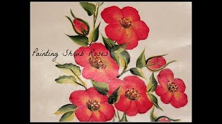 Painting Shrub Roses | Hand Painted Flowers | Tutorial | Aressa | Brushstrokes | 2018
