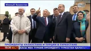 Президенты Казахстана и Турции посетили мавзолей Ходжа Ахмета Яссауи