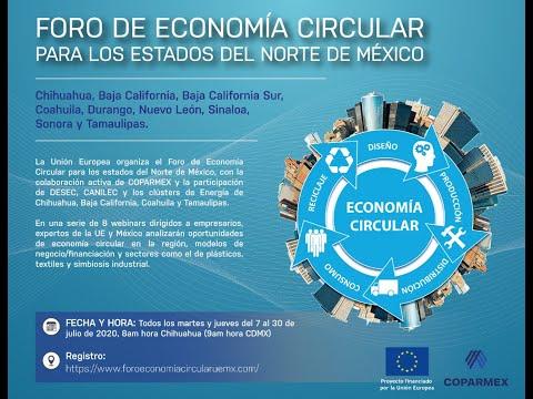 2. La Economía Circular y el cambio climático. Foro de EC para los estados del Norte de México.