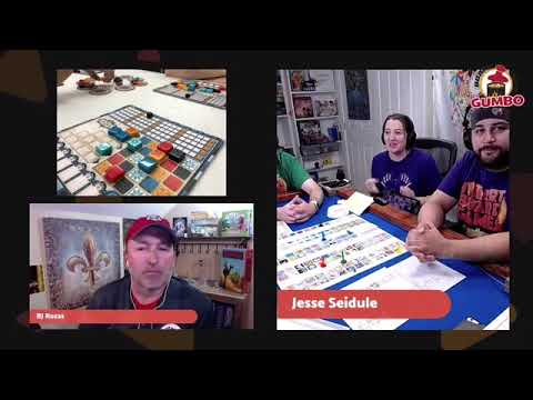 Gumbo Live! with I Heart Board Games talking Azul