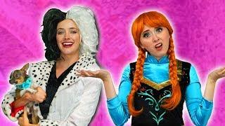 CRUELLA DOGNAPS ANNA'S PUPPY. (Will Elsa and Anna Get the Dog Back?) Totally TV