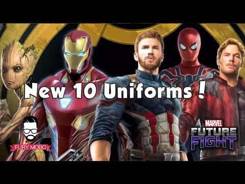 10 New Avengers: Infinity War Uniforms with Uni Bonuses (4.0 Update) - MARVEL Future Fight