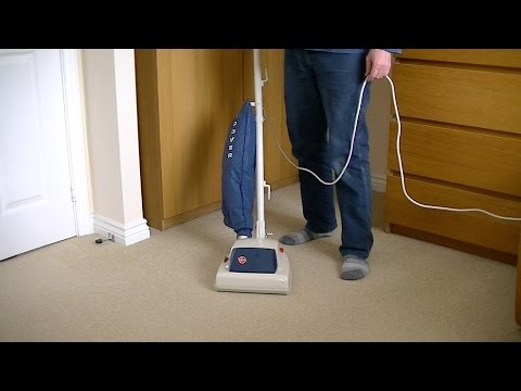 Vintage Hoover Junior 1346A Vacuum Cleaner Turned On For The First Time