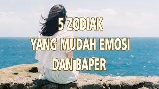 5 Zodiak yang Mudah Emosi & Baper