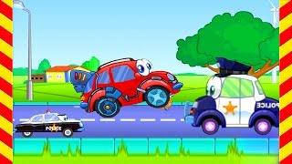 Мультфильмы для мальчиков про Вилли и злых полицейских. Машинка Вилли выполняет опасные задания