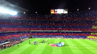 preview picture of video 'Mosaic and Himne 22.March 2015 Barça-Madrid Camp Nou'