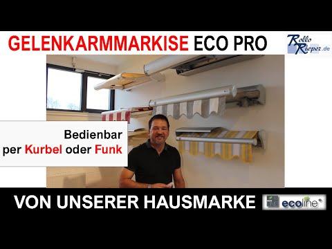 Eco Pro Markise | Gelenkarmmarkisen | Produktvideos von Rollo Rieper