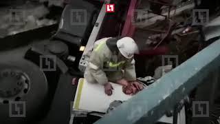 Мост рухнул под Воронежом