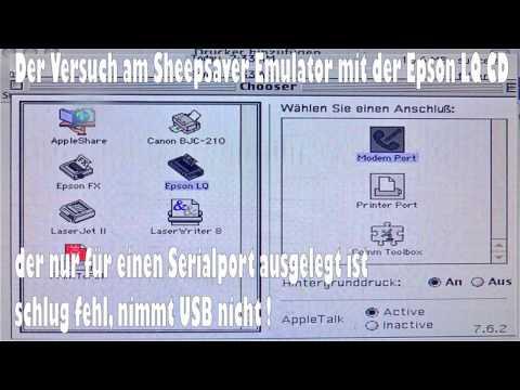 Der Versuch Mannesmann Tally T7070 mit OS 10 6  USB Druckerkabel mit Epson LQ download