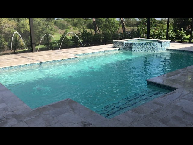 Pool & Spa Build with Water Features