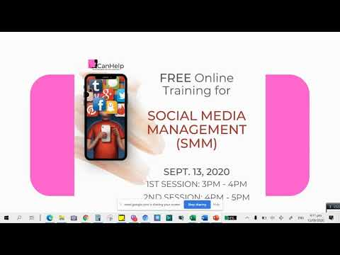 Free Online Training for Social Media Management (SMM)