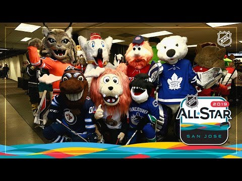 Mascots hit the ice before the 2019 All-Star Game